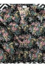 Liv Schwarz Jacke mit Blumenmuster