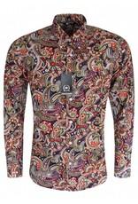 Relco London Paisley shirt navy/green