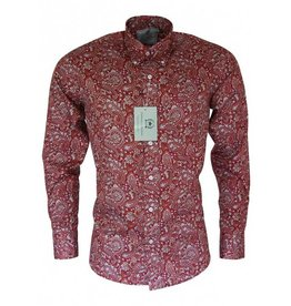 Relco London Paisley Hemd in rot