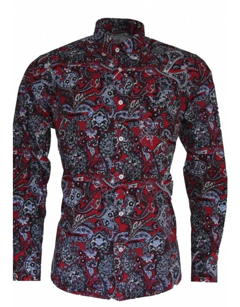 Relco London Paisley Hemd rot/blau