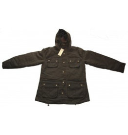 Relco London Wax Parka Jacke in olive
