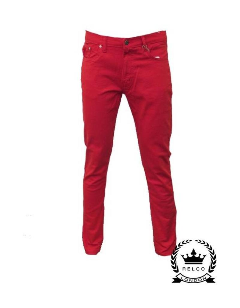 Relco London Skinny Jeans rot