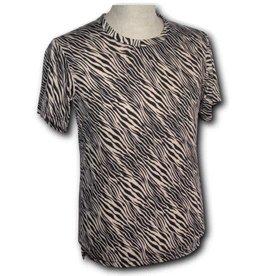 Chenaski T-Shirt Zebra beige/schwarz