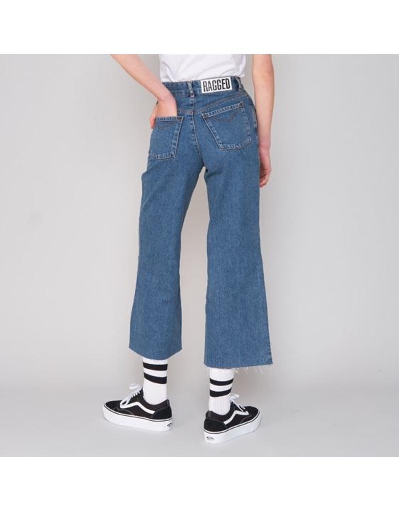 The Ragged Priest Weite verkürzte Jeans blau