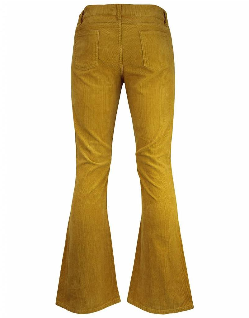 Madcap England KILLER - RETRO SIXTIES/SEVENTIES INDIE CORD FLARES IN GOLD
