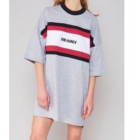 The Ragged Priest T-Shirt Kleid mit Sport-Streifen