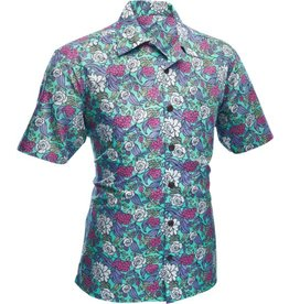 Chenaski Short sleeved shirt surfer flowers