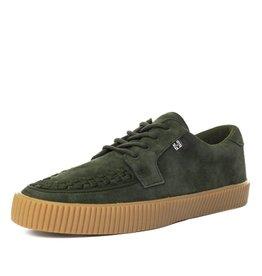 T.U.K. Footwear T.U.K. Shoes EZC Olive Suede Creeper Sneaker
