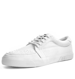 T.U.K. Footwear Sneaker vegan Canvas in weiss