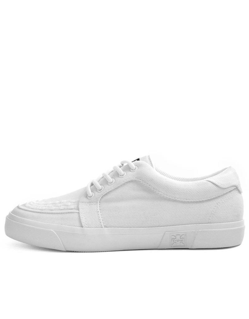 T.U.K. Footwear T.U.K. Shoes White Canvas VLK Creeper Sneaker