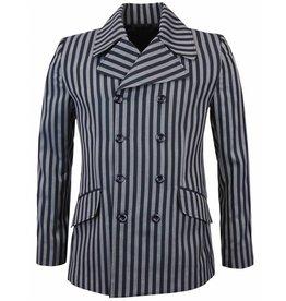 Madcap England Blazer Jacke Doppelreihe in navy/silber