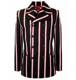Madcap England Blazer Jacke Doppelreiher in schwarz/rot/weiß
