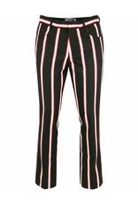 Madcap England MENS SIXTIES MOD BOOTCUT TROUSERS IN BLACK/RED/WHITE