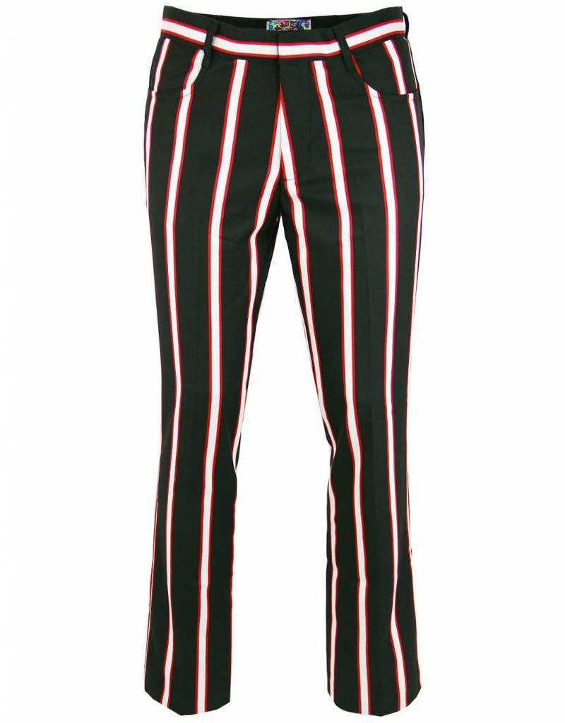 Bootcut Hose in schwarz rot weiß Madcap England   bei pogo online shoppen -  pogo 34bcbff904