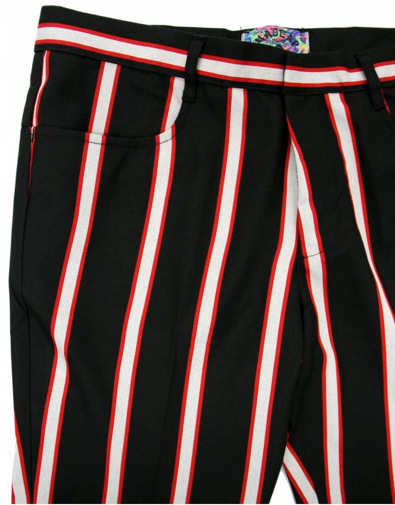 Bootcut Hose in schwarz rot weiß Madcap England   bei pogo online ... c4aa5dfe57