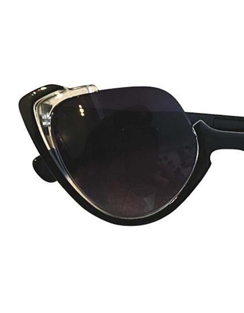 Sonnenbrille im Retrostil mit Katzenaugen schwarz