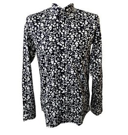 Relco London Shirt Flowers in white and blue