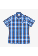 Brutus London Palace Blue/Cocoa Brown Check Trimfit