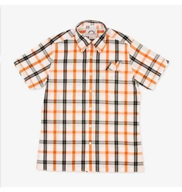 Brutus London White/Orange Check Trimfit