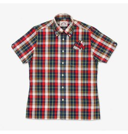 Brutus London Red Madras Check Trimfit