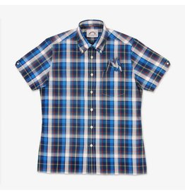 Brutus London Blue Madras Check Trimfit