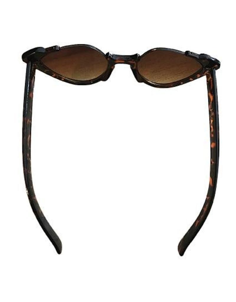 Sonnenbrillen im Retrostil mit Katzenaugen braun leo