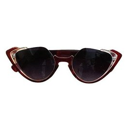 Sonnenbrille retro mit Katzenaugen braun