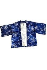 Liv Schwarz Kimono Jacke blau