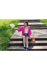 Liv Schwarz Kimono Jacket in pink
