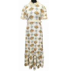 70s Vintage Kleid mit Spitze