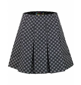 Madcap England BIJOUX RETRO 1960S GEO CIRCLE PLEATED TENNIS SKIRT