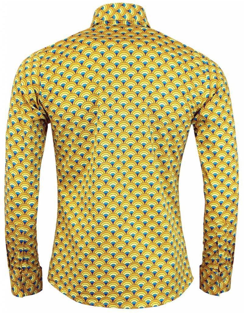 Madcap England Hemd in gelb mit Muster