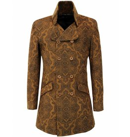 Madcap England THE PAISLEY CROWD - RETRO 60S MOD CORD DRESS JACKET IN TAN