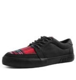 T.U.K. Footwear Black Canvas and Plaid Sneaker