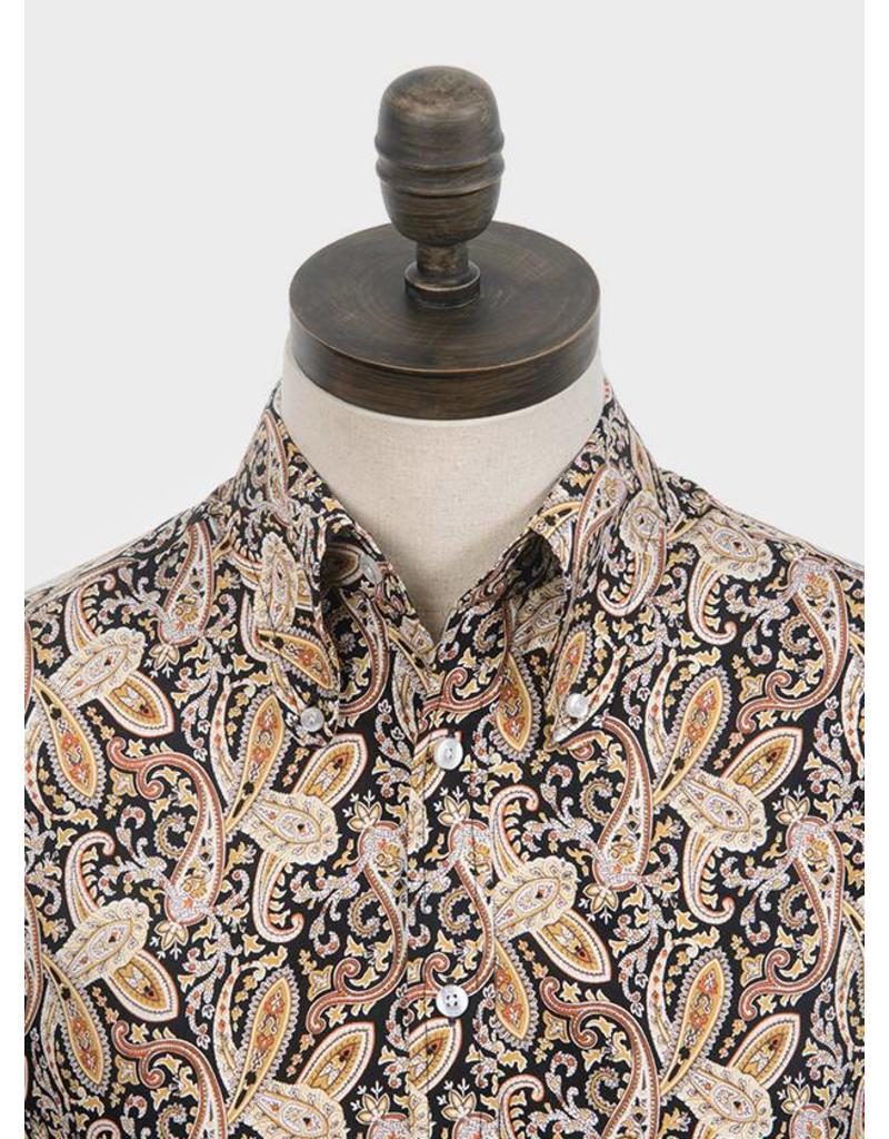 Hemd mit Paisleymuster braun schwarz - bei pogo online shoppen - pogo ed9db03912