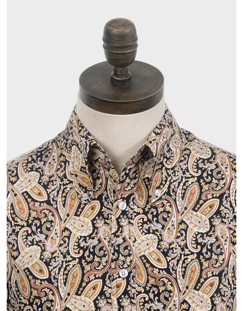 Art Gallery Shirt Paisley brown/black