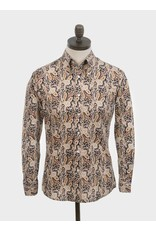Art Gallery Hemd mit Paisleymuster braun/schwarz