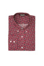 Relco London Paisley shirt in burgundy