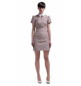 Marmalade 1960s Mod Style Flower Pattern Dress