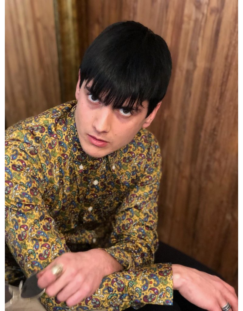Relco London Paisley Shirt - Mustard