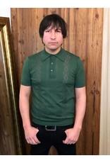 Art Gallery Poloshirt grün mit Lochmuster