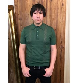 Art Gallery Knitted Polo Shirt green
