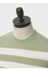 Art Gallery T-Shirt Strickoptik Spearmint