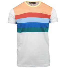 Madcap England T-Shirt mit Streifen in weiß