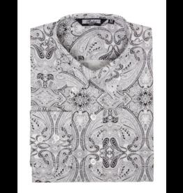 Relco London Hemd 'Vintage' in schwarz/weiß