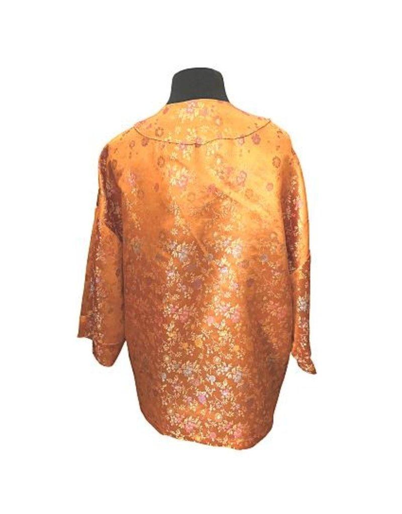 Liv Schwarz Kimono Jacke orange