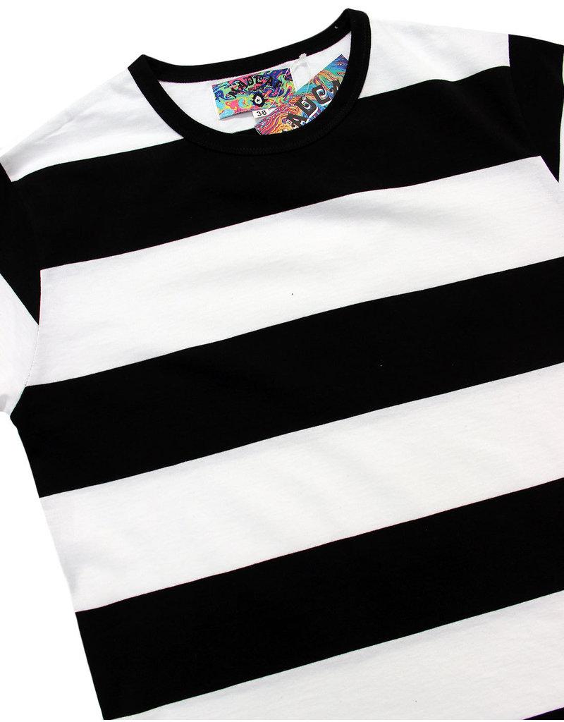 Madcap England T-Shirt with Stripes black/white
