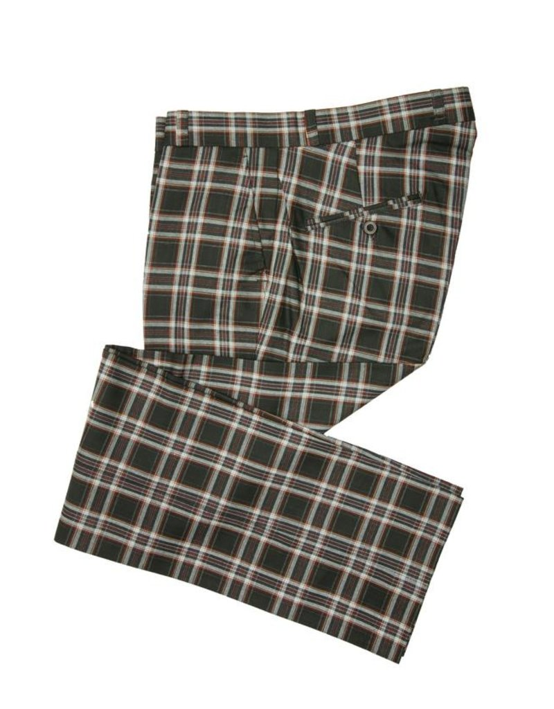 Relco London Checked Trousers navy