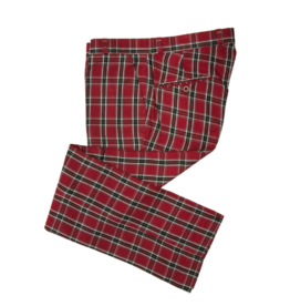 Relco London Tartan Trousers burgundy
