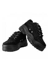 T.U.K. Footwear Platform Sneaker in schwarzem Samt